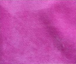 Fuchsia Pink Velour Suede Leather Half Skin